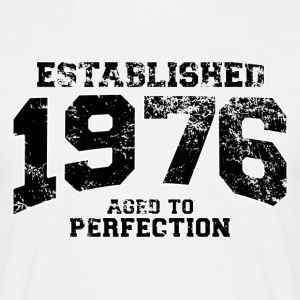 established 1976 - aged to perfection(nl) T-shirts - Mannen T-shirt
