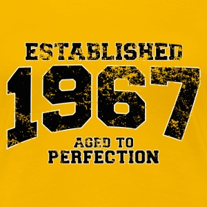 established 1967 - aged to perfection(es) Camisetas - Camiseta premium mujer