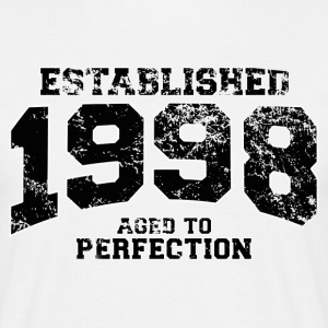 Geburtstag - established 1998 - aged to perfection - Männer T-Shirt