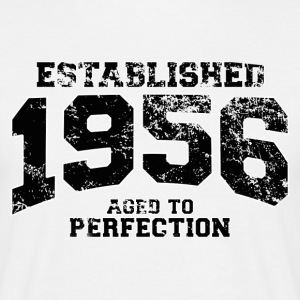 established 1956 - aged to perfection(sv) T-shirts - T-shirt herr