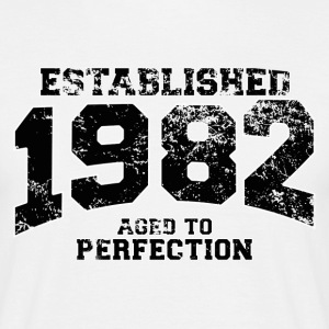 Geburtstag - established 1982 - aged to perfection - Männer T-Shirt