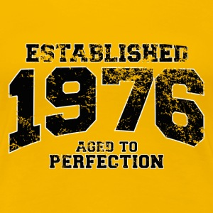 Geburtstag - established 1976 - aged to perfection - Frauen Premium T-Shirt