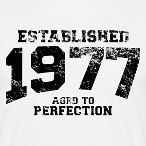 established 1977 - aged to perfection(nl) T-shirts - Mannen T-shirt