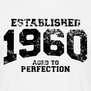 Geburtstag - established 1960 - aged to perfection - Männer T-Shirt