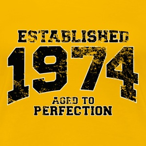 established 1974 - aged to perfection(uk) T-Shirts - Women's Premium T-Shirt