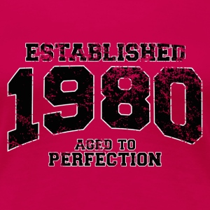 established 1980 - aged to perfection(uk) T-Shirts - Women's Premium T-Shirt