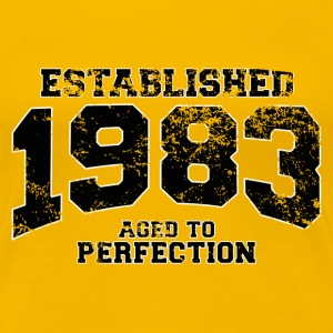 Geburtstag - established 1983 - aged to perfection - Frauen Premium T-Shirt