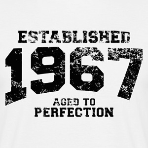 Geburtstag - established 1967 - aged to perfection - Männer T-Shirt