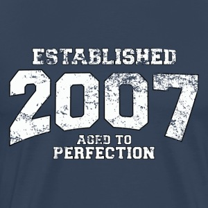 established 2007 - aged to perfection (sv) T-shirts - Premium-T-shirt herr