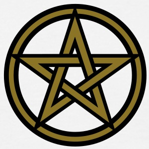 Pentagram amulet- Sign of intellectual omnipotence and autocracy. 2c, Star of the Magi , powerful symbol of protection Camisetas - Camiseta hombre