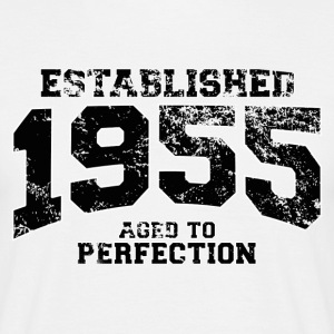 established 1955 - aged to perfection(sv) T-shirts - T-shirt herr
