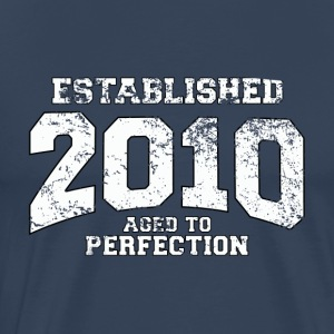 established 2010 - aged to perfection (dk) T-shirts - Herre premium T-shirt