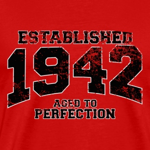 established 1942 - aged to perfection (es) Camisetas - Camiseta premium hombre