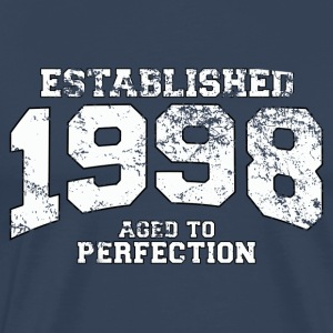established 1998 - aged to perfection (nl) T-shirts - Mannen Premium T-shirt