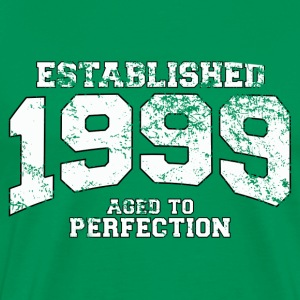 established 1999 - aged to perfection (dk) T-shirts - Herre premium T-shirt
