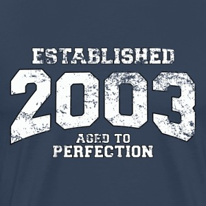 established 2003 - aged to perfection (nl) T-shirts - Mannen Premium T-shirt
