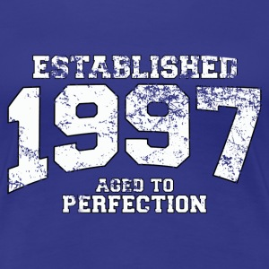 established 1997 - aged to perfection (es) Camisetas - Camiseta premium mujer