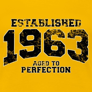 established 1963 - aged to perfection(es) Camisetas - Camiseta premium mujer
