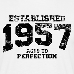 established 1957 - aged to perfection(nl) T-shirts - Mannen T-shirt
