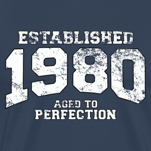 Geburtstag - established 1980 - aged to perfection - Männer Premium T-Shirt