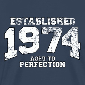 established 1974 - aged to perfection (es) Camisetas - Camiseta premium hombre