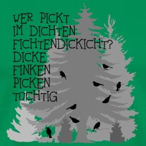 finken fink Zungenbrecher spruch sprüche wald bäume baum dick fichte fichten fun
