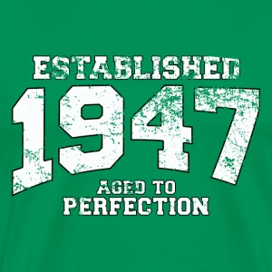 established 1947 - aged to perfection (uk) T-Shirts - Men's Premium T-Shirt