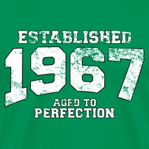 established 1967 - aged to perfection (dk) T-shirts - Herre premium T-shirt