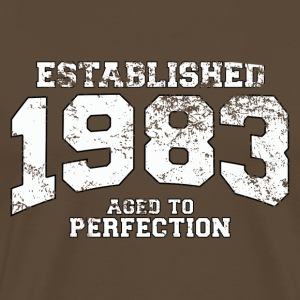 established 1983 - aged to perfection (dk) T-shirts - Herre premium T-shirt
