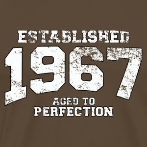 established 1967 - aged to perfection (es) Camisetas - Camiseta premium hombre