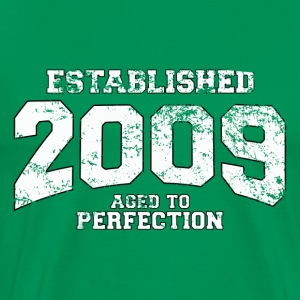 established 2009 - aged to perfection (it) T-shirt - Maglietta Premium da uomo