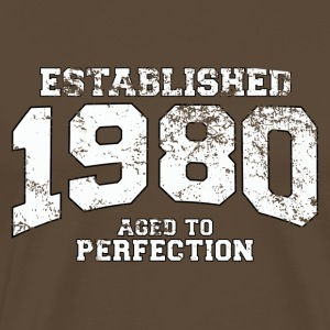 established 1980 - aged to perfection (es) Camisetas - Camiseta premium hombre
