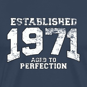 established 1971 - aged to perfection (nl) T-shirts - Mannen Premium T-shirt