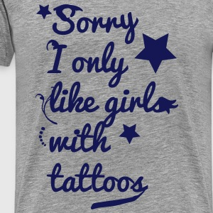 tattoo girls T-shirts - Premium-T-shirt herr