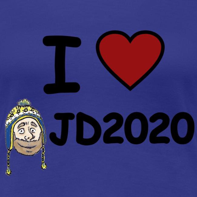 WOMEN'S TEE: I HEART JD2020