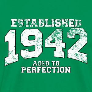 Geburtstag - established 1942 - aged to perfection - Männer Premium T-Shirt