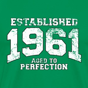 established 1961 - aged to perfection (es) Camisetas - Camiseta premium hombre