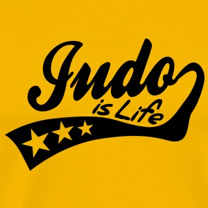 judo is life - retro T-Shirts - Men's Premium T-Shirt