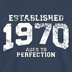 Geburtstag - established 1970 - aged to perfection - Männer Premium T-Shirt