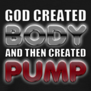 God Created Body Pump T-Shirts - Men's Premium T-Shirt