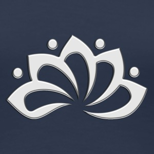 Lotus Flower, digital, silver, symbol of perfection and enlightenment, sacred symbol T-Shirts - Women's Premium T-Shirt