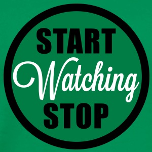 start stop watching T-Shirts - Männer Premium T-Shirt