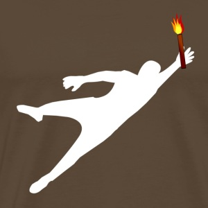 Goalkeeper with pyrotechnics - Men's Premium T-Shirt