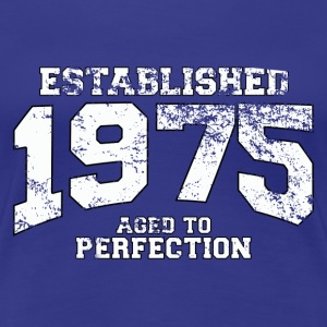 established 1975 - aged to perfection (dk) T-shirts - Dame premium T-shirt
