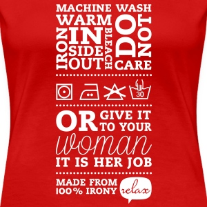 Typographic Satirical Laundry Tag Tee shirts - T-shirt Premium Femme