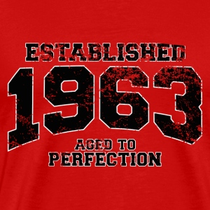Geburtstag - established 1963 - aged to perfection - Männer Premium T-Shirt