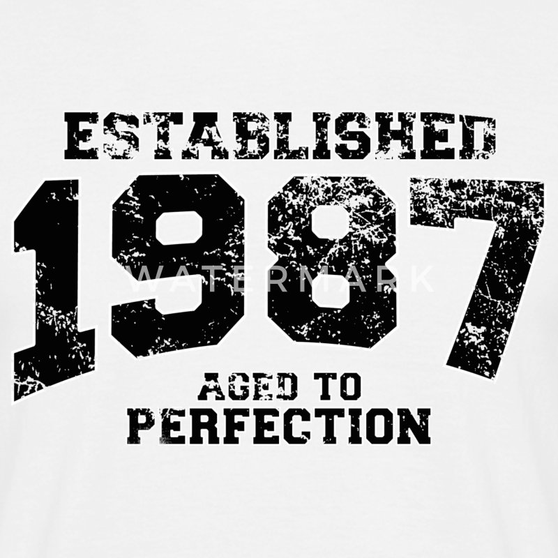 established 1987 - aged to perfection(fr) Tee shirts - T-shirt Homme
