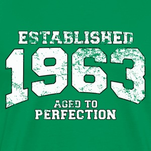 established 1963 - aged to perfection (es) Camisetas - Camiseta premium hombre