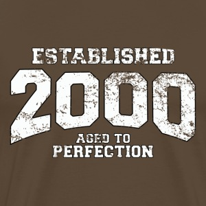 established 2000 - aged to perfection (sv) T-shirts - Premium-T-shirt herr