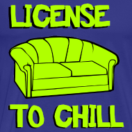 Ontwerp ~ Funny T-shirt License to chill